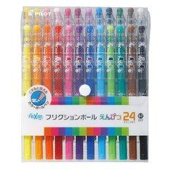 Стираемые гелевые ручки Pilot FriXion Ball Pencil (набор 24 цвета)