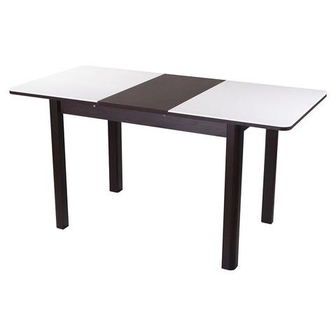 Стол РУМБА ПР-2 Камень 04 белый / подстолье венге / опора №04 венге / 140(190)х85см
