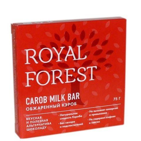 Шоколад ROYAL FOREST обжаренный кэроб, 75 гр. (ТрансКэроб)