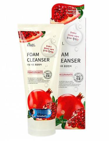 Пенка для умывания с экстрактом граната Ekel Pomegranate Foam Cleanser 180ml.