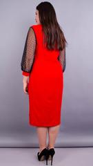 Дамск. Оригинальное платье плюс сайз. Красный.