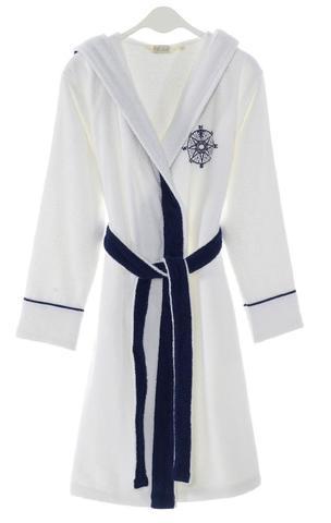 Женский махровый халат MARINE LADY белый