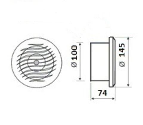 Накладной вентилятор MMotors JSC MM-S 100 (для бань и саун)