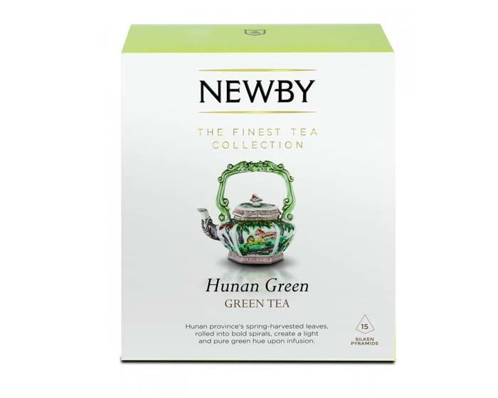 Чай зеленый в пирамидках Newby Hunan green, 15 пак/уп