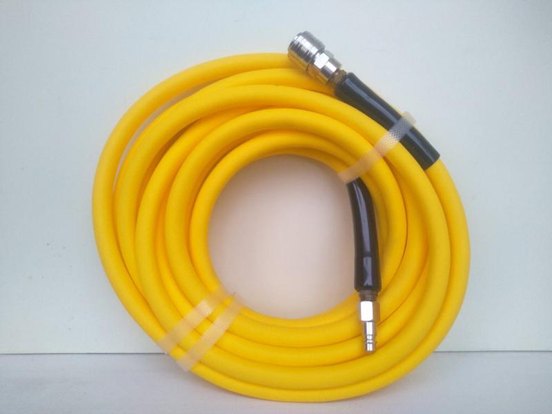 Шланг гибкий QC желтый, 7,6 метра