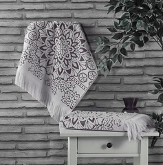 Полотенце махровое Duru (цвет: кремовый)