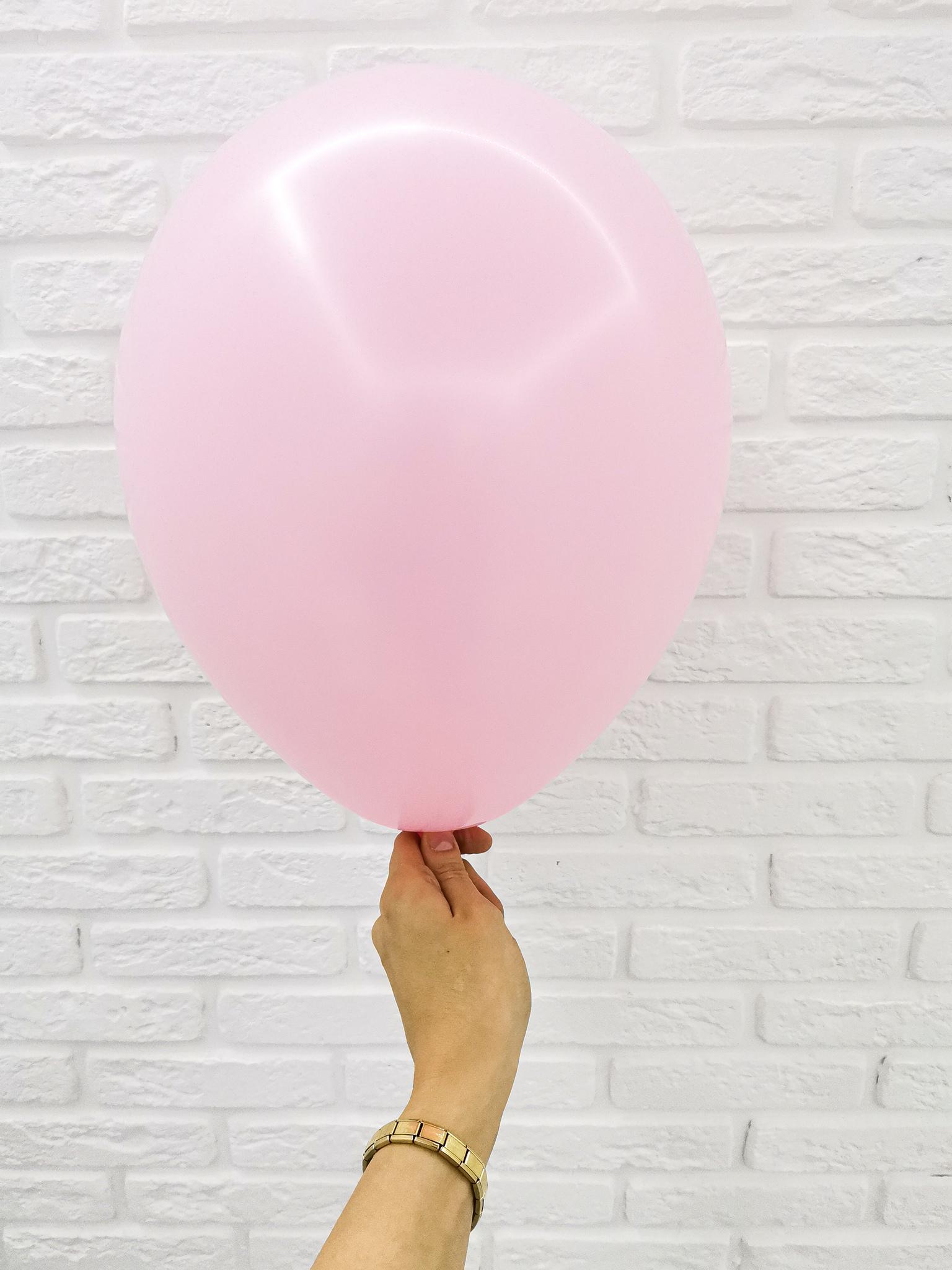 №13 Розовый Гелиевый шар пастель 30см с обработкой