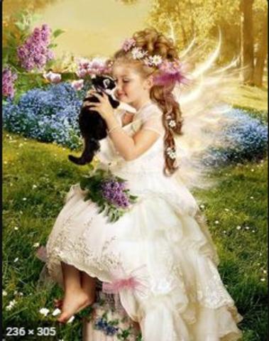 Алмазная Мозаика 20x30 Милая девочка с котенком (арт. TC3331)