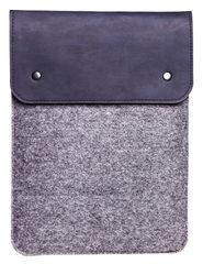 Вертикальный чехол Gmakin для Macbook синий с серым