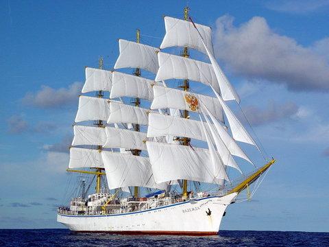 Картина раскраска по номерам 30x40 Белый корабль