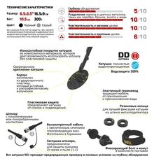 Катушка NEL Snake для металлоискателя X-Terra 18,75 кГц