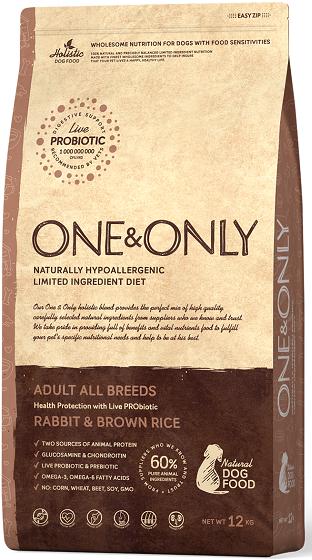 Сухой корм Корм для взрослых собак всех пород, ONE&ONLY Rabbit & Rice Adult All Breeds, с кроликом и рисом Кролик_и_рис.png