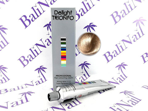 TRIONFO 10-2 стойкая крем-краска для волос Светлый блондин пепельный, 60 мл