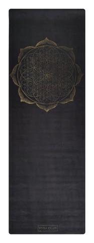 Коврик для йоги Flower Gold 183*61*0,1 -0,3 см из микрофибры и каучука