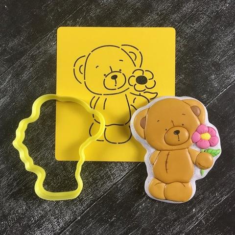 Мишка Тедди №15 с цветочком