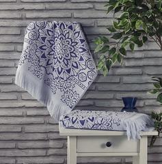 Полотенце махровое Duru (цвет: серый)