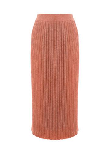 Женская юбка терракотового цвета из вискозы - фото 1