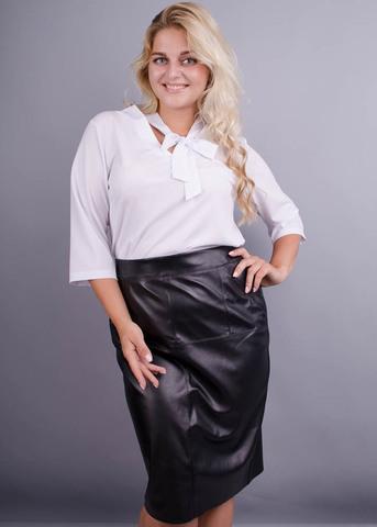 Сусана. Оригинальная блуза плюс сайз. Белый.
