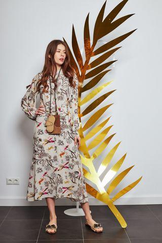 Dorothee Schumacher Платье шелковое в авторский принт