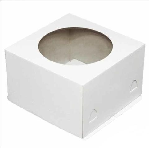 10=10. Коробка для торта 24х24х18см. (хром-эрзац), 10шт.