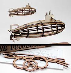 057-6758 Субмарина, деревянная заготовка