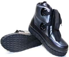 Кожаные зимние ботинки Kluchini 13047