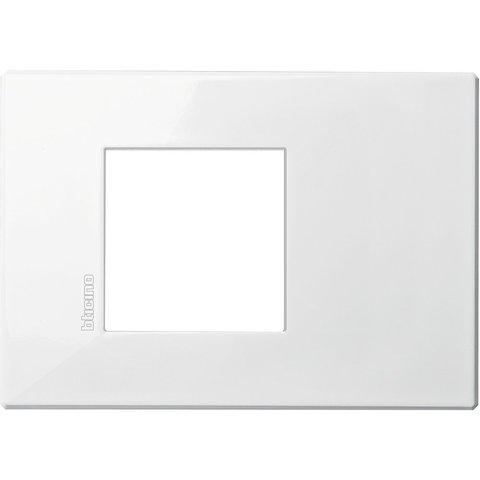 Рамка 1 пост AIR, прямоугольная форма. МОНОХРОМ. Цвет AXOLUTE Белый. Немецкий/Итальянский стандарт, 2 модуля. Bticino AXOLUTE. HW4819HD