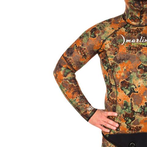 Гидрокостюм Marlin Sarmat Eco Brown 9 мм куртка – 88003332291 изображение 6