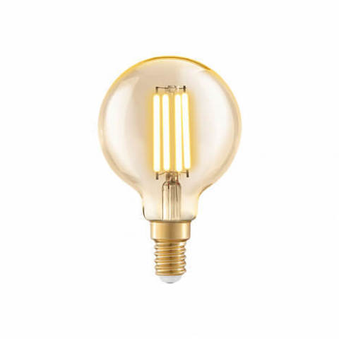 Лампа LED филаментная из стекла янтарного цвета Eglo AMBER LM-LED-E14 4W Lm 2200K  11782