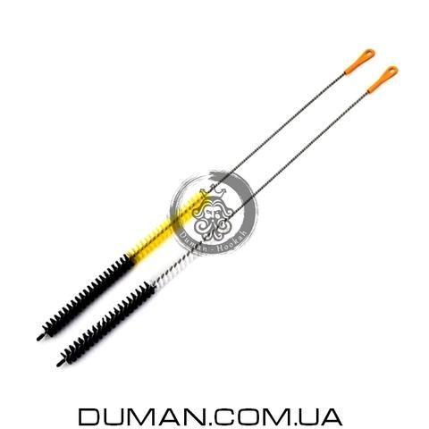 Ерш для чистки кальяна | Black-Yellow 65см