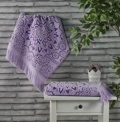 Полотенце махровое Duru (цвет: сиреневый)