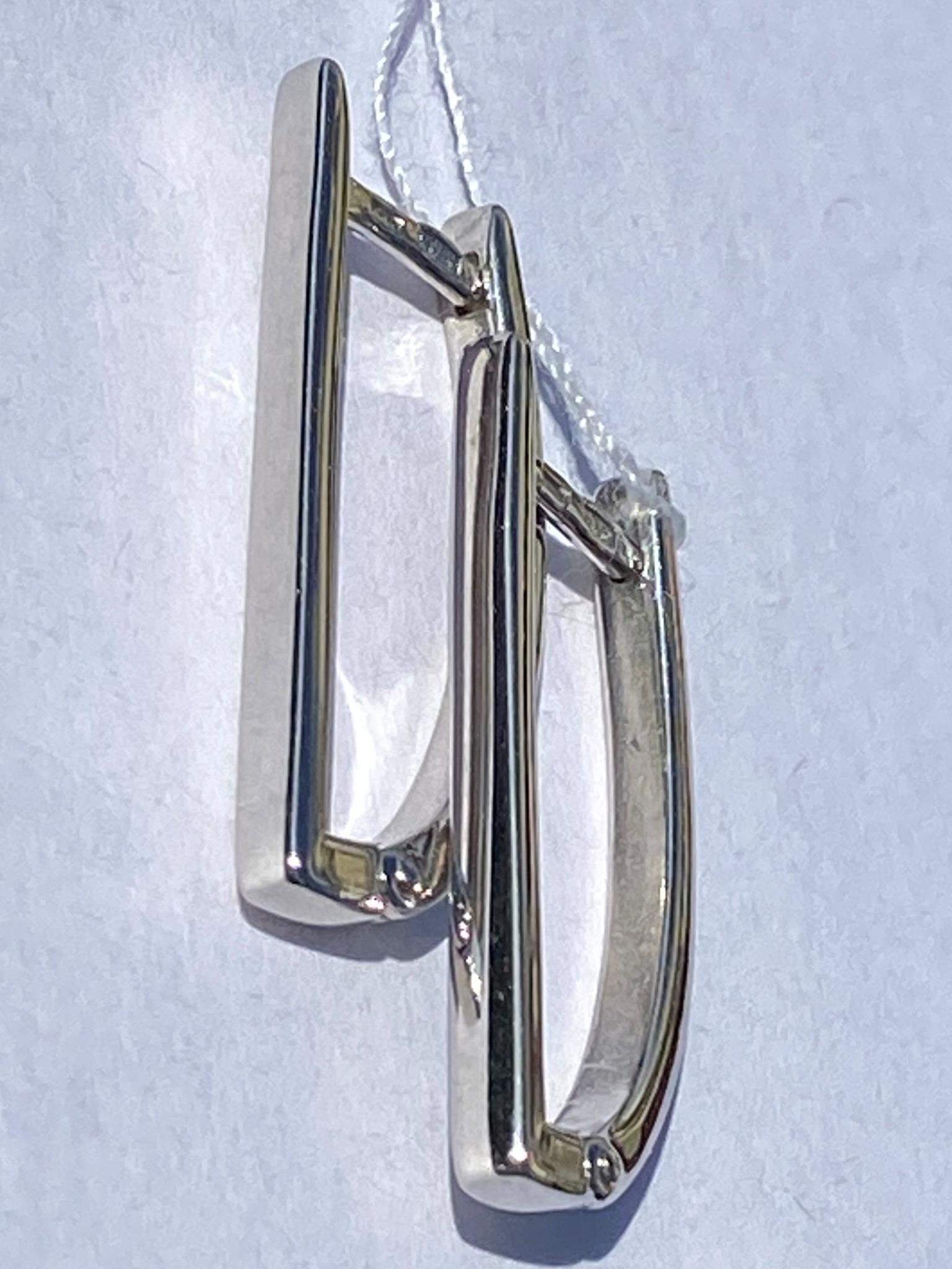 Пайп (серебряные серьги)