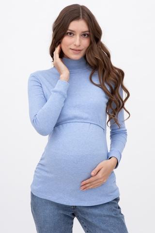 Водолазка для беременных и кормящих 09296 голубой