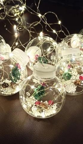 Новогодняя гирлянда штора шарики с игрушкой «Снеговик» внутри 10 шт