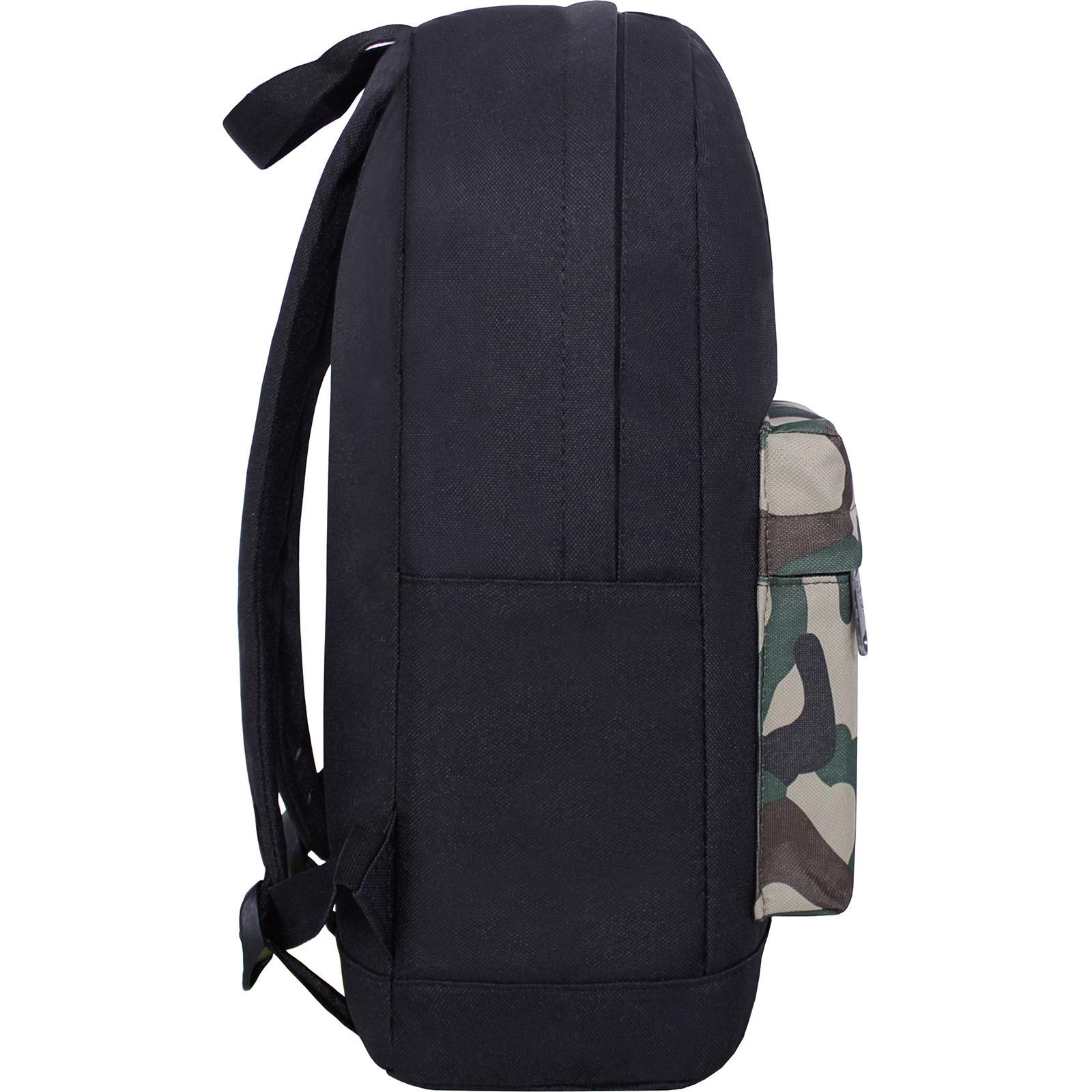 Рюкзак Bagland Молодежный W/R 17 л. черный/камуфляж (00533662) фото 2
