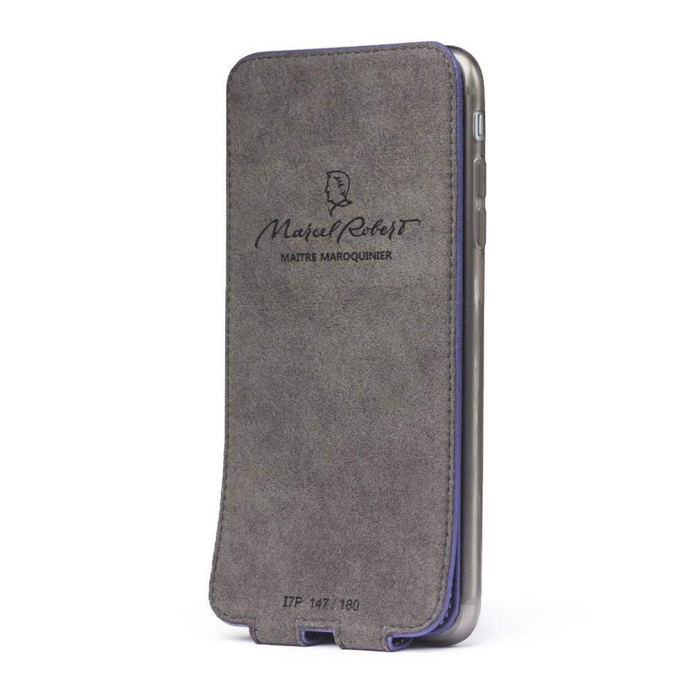 Чехол для iPhone 7 Plus из натуральной кожи теленка, цвета сирени
