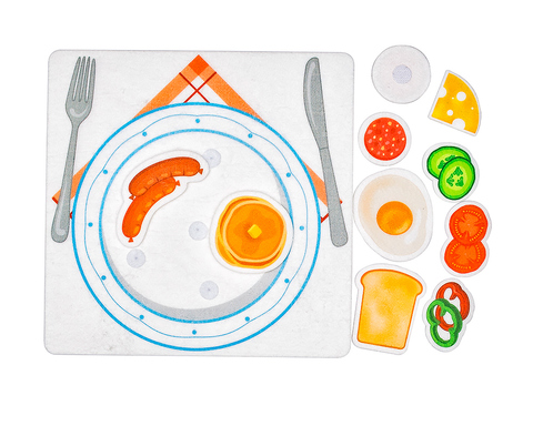 Игровой набор из фетра Готовим Завтрак, Smile decor