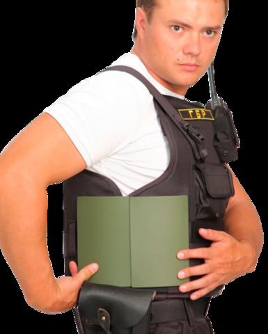 Бронежилет Комфорт 2-2 УНИ чехол Охранник с боковой защитой, Бр2 класс защиты