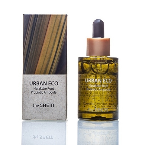 The Saem Urban Eco Harakeke Root Probiotic Ampoule успокаивающая сыворотка для лица с пробиотиком