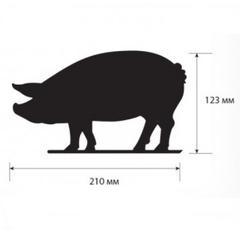 Меловой ценник BB PIG - фигура