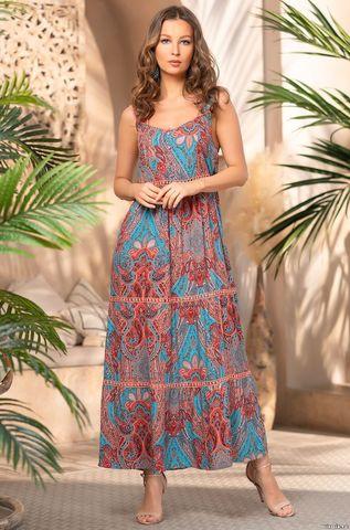 Длинное летнее платье из вискозы Mia Amore