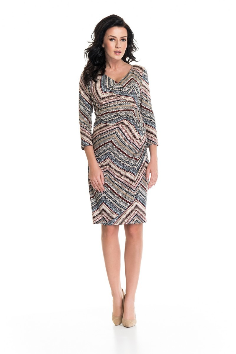 Фото платье для беременных и кормящих 9Fashion от магазина СкороМама, цветной, размеры.