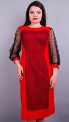 Дамськ. Оригінальна сукня плюс сайз. Червоний.