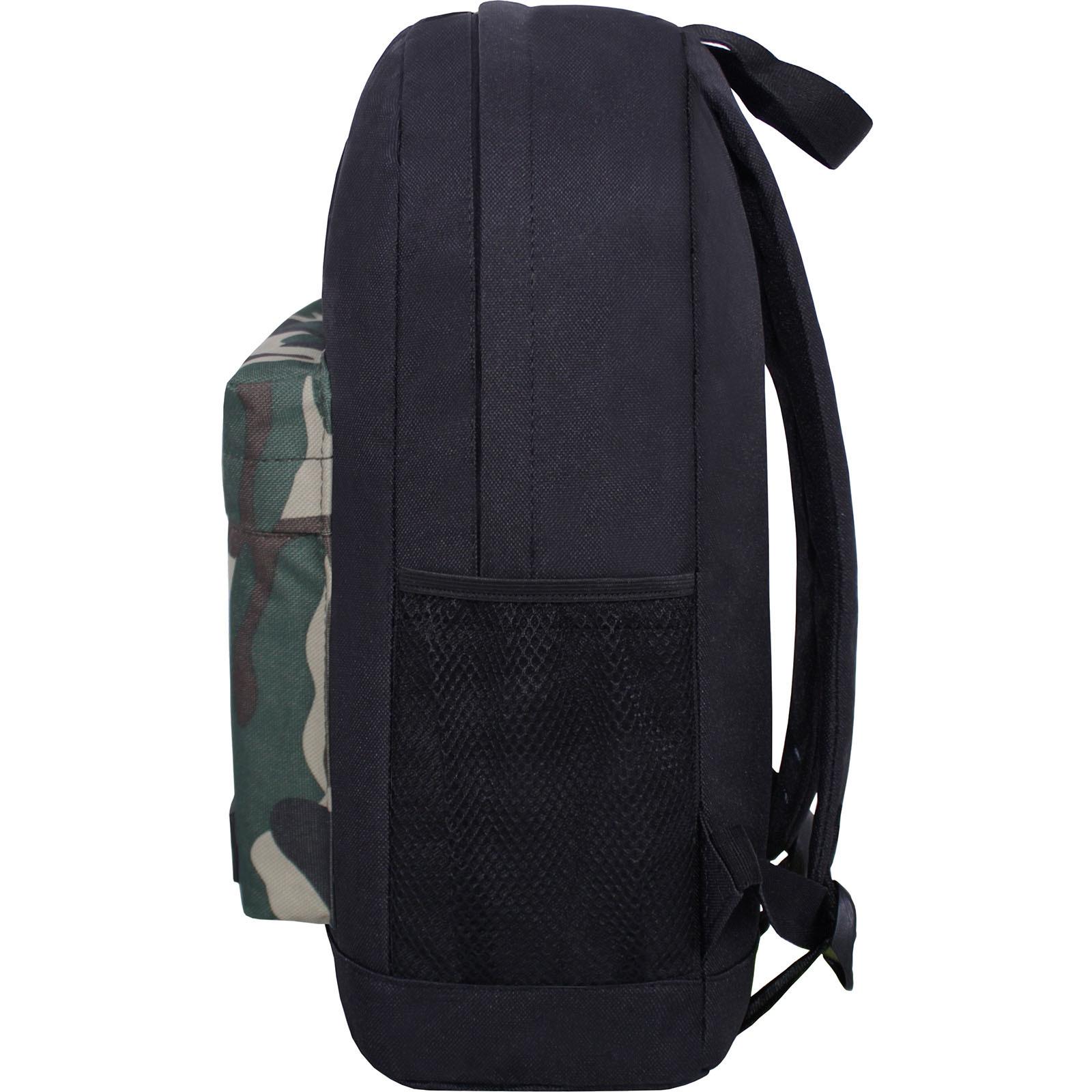 Рюкзак Bagland Молодежный W/R 17 л. черный/камуфляж (00533662) фото 3