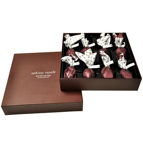 Конфеты Инжир в тёмном шоколаде с трюфельным кремом и бренди Rabitos 142 г 8 конфет