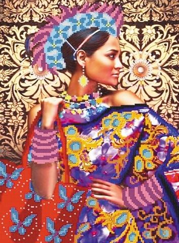 Алмазная Мозаика 40x50 Красавица в ярких красках (арт. WXSA2237 )
