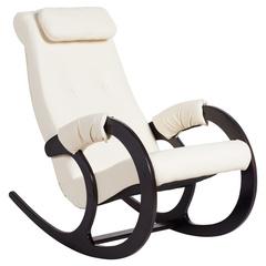 Кресло-качалка Блюз Экокожа (Cream)