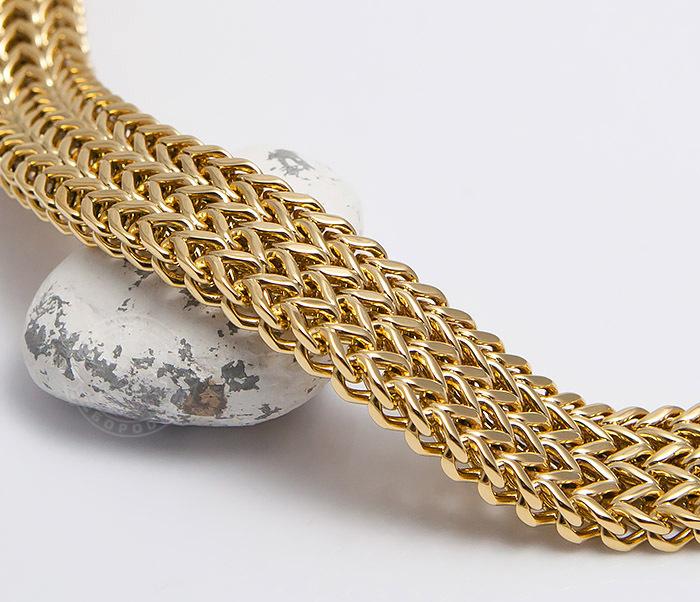 BM468-2 Тяжелый мужской браслет из стали золотистого цвета (22 см) фото 03