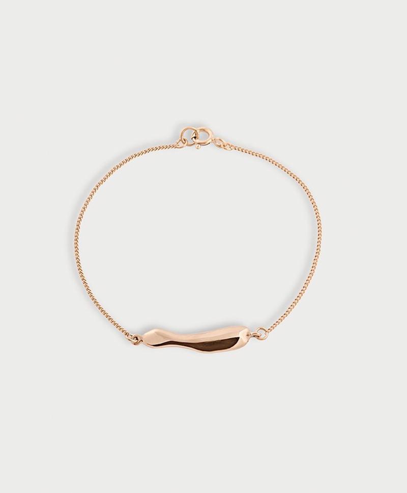 Серебряный браслет с золотым покрытием