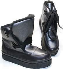 Ботинки женские зимние на шнуровке Kluchini 13047